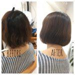 [髪質改善]〇〇を活かすために?(鋤きすぎて毛先がまとまらない+パサパサ・・・を内巻きボブに☆)