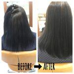 [縮毛矯正+髪質改善]まっすぐにはしたいけど毛先ピンピンはちょっと・・・自然におさまるのがいいな~♪のご要望に