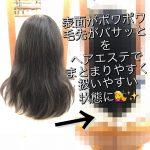 [埼玉 志木]ヘアエステ(new.ver)でまとまらない・表面にポワポワする・・・を扱いやすいツヤサラ髪に 改善